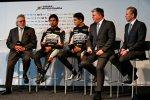 Vijay Mallya, Sergio Perez (Force India), Esteban Ocon (Force India) und Otmar Szafnauer