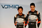 Sergio Perez (Force India) und Esteban Ocon (Force India)