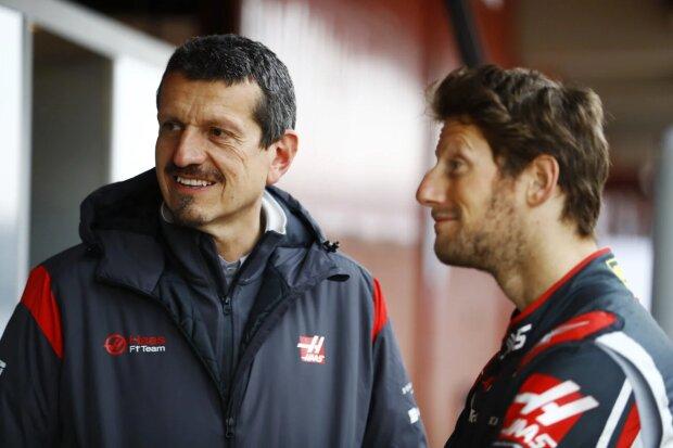 Romain Grosjean  ~Günther Steiner und Romain Grosjean (Haas) ~