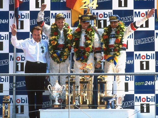 Reinhold Joest, Tom Kristensen, Stefan Johansson und Michele Alboreto (Le Mans 1997)