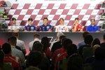 , Maverick Vinales (), Marc Marquez (Honda), Jorge Lorenzo (Ducati) und Andrea Iannone (Suzuki)