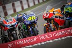 Die Motorräder von Jorge Lorenzo, Valentino Rossi und Marc Marquez
