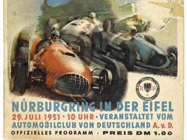 Mit dem Großen Preis von Deutschland findet auf dem Nürburgring 1951 zum ersten Mal nach dem Zweiten Weltkrieg ein internationales Rennen statt.