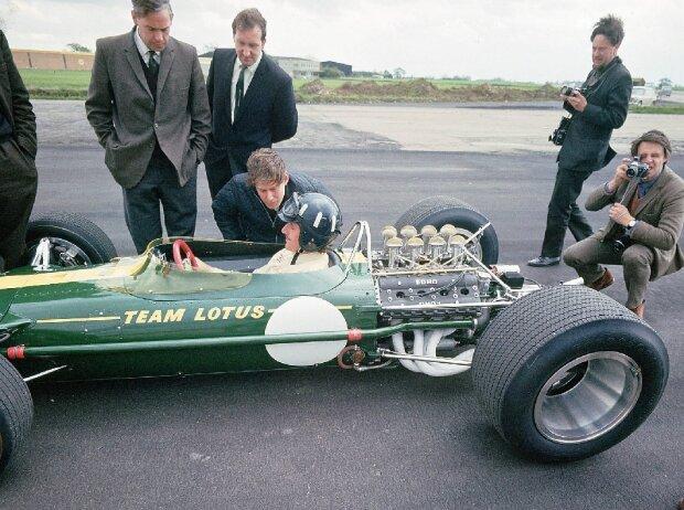 Graham Hill im Lotus, 1967: Vor 50 Jahren revolutionierte der DFV-Motor die Formel 1