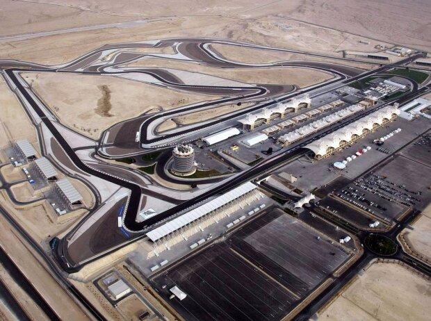 Strecke, Bahrain International Circuit, Vogelperspektive, Layout