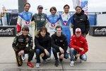 Bruno Senna, Mathias Lauda, Nelson Piquet Jun., Nelson Piquet sen., Pietro Fittipaldi, Pedro Piquet, Harrison Newey und Mick Schumacher