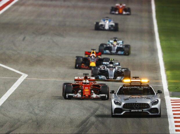 Sebastian Vettel, Valtteri Bottas, Daniel Ricciardo, Lewis Hamilton