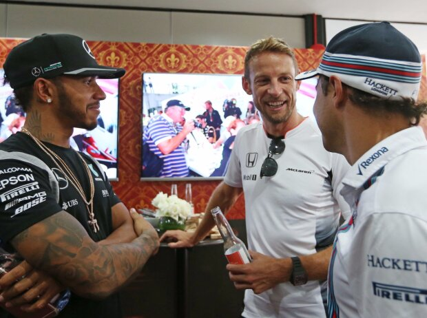 Jenson Button, Lewis Hamilton, Felipe Massa