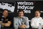 Michael Andretti, Fernando Alonso (McLaren) und Zak Brown