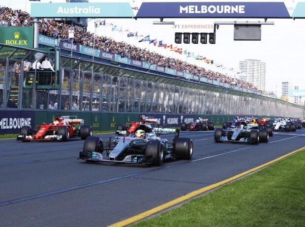 Lewis Hamilton, Sebastian Vettel, Valtteri Bottas, Kimi Räikkönen