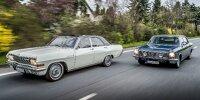 Achtzylinder-Parade: Der Opel Admiral A V8 aus dem Baujahr1966 und der Opel Diplomat B V8 lang von 1976.