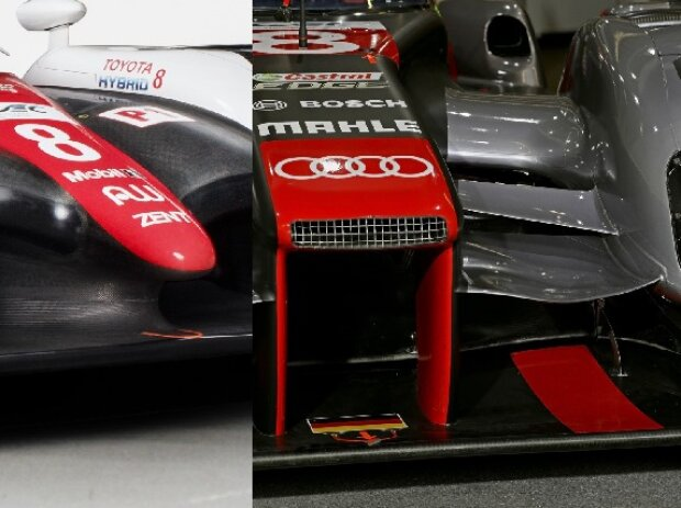 Legality Panels, Audi R18, Toyota TS050 Hybrid, Vergleich