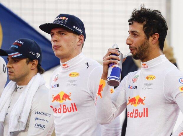 Felipe Massa, Max Verstappen, Daniel Ricciardo, Valtteri Bottas