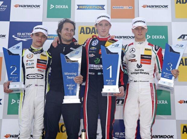 Lando Norris, Joel Eriksson, Mick Schumacher