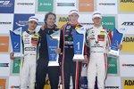Lando Norris, Joel Eriksson und Mick Schumacher