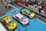 Lucas Auer (HWA-Mercedes 3) und Timo Glock (RMG-BMW)