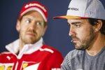 Sebastian Vettel (Ferrari) und Fernando Alonso (McLaren)