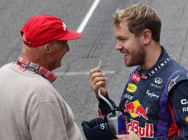 Niki Lauda und Sebastian Vettel
