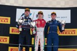 Charles Leclerc (Prema), Luca Ghiotto (Russian Time) und Oliver Rowland (DAMS)