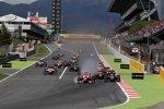 Start zum Hauptrennen in Barcelona