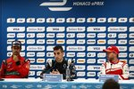 Lucas di Grassi (Abt), Sebastien Buemi (Renault e.dams) und Nick Heidfeld (Mahindra)