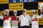 Jamie Green (Rosberg-Audi), Mattias Ekström (Abt-Audi) und Robert Wickens (HWA-Mercedes)