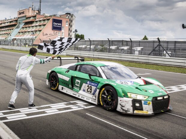Christopher Mies, Connor de Phillippi, Markus Winkelhock, Land-Audi, Zieldurchfahrt