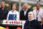 Frank Williams, Claire Williams, Riccardo Patrese und Nigel Mansell