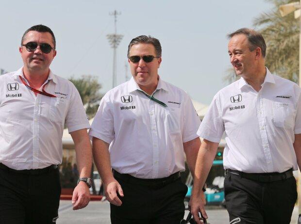 Eric Boullier, Jonathan Neale, Zak Brown