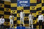 Timo Glock (RMG-BMW), Paul di Resta (HWA-Mercedes 2) und Bruno Spengler (RBM-BMW)