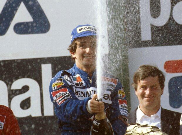 Alain Prost, Nicolas Prost, Rene Arnoux, Nelson Piquet Jun.