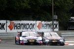 Mattias Ekström (Abt-Audi) und Marco Wittmann (RMG-BMW)