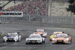 Gary Paffett (HWA-Mercedes), Jamie Green (Rosberg-Audi) und Tom Blomqvist (RBM-BMW)
