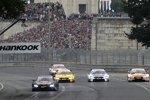 Marco Wittmann (RMG-BMW), Timo Glock (RMG-BMW), Tom Blomqvist (RBM-BMW) und Jamie Green (Rosberg-Audi)
