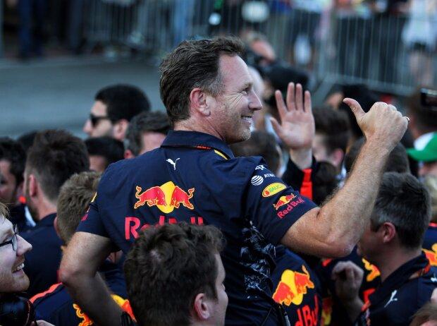 Christian Horner, Daniel Ricciardo