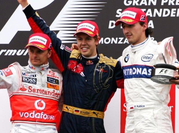 Heikki Kovalainen, Sebastian Vettel, Robert Kubica