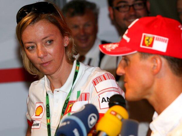 Sabine Kehm und Michael Schumacher
