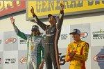 Helio Castroneves (Penske), J.R. Hildebrand (Carpenter), und Ryan Hunter-Reay (Andretti)