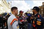Stoffel Vandoorne (McLaren), Romain Grosjean (Haas) und Daniel Ricciardo (Red Bull)