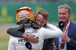 Lewis Hamilton (Mercedes) und Jenson Button