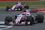 Esteban Ocon (Force India) und Sergio Perez (Force India)