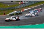 Michael Christensen (Porsche), Kevin Estre (Porsche) und Frederic Makowiecki (Porsche)