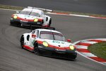 Frederic Makowiecki (Porsche), Michael Christensen (Porsche) und Kevin Estre (Porsche)