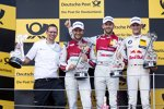 Mike Rockenfeller (Phoenix-Audi), Rene Rast (Rosberg-Audi) und Marco Wittmann (RMG-BMW)