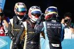 Sebastien Buemi (Renault e.dams), Jean-Eric Vergne und Stephane Sarrazin (Techeetah)