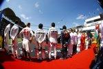 Paul di Resta (Williams), Lance Stroll (Williams), Kevin Magnussen (Haas), Sergio Perez (Force India), Esteban Ocon (Force India), Carlos Sainz (Toro Rosso), Fernando Alonso (McLaren), Daniil Kwjat (Toro Rosso), Valtteri Bottas (Mercedes) und Sebastian Vettel (Ferrari)