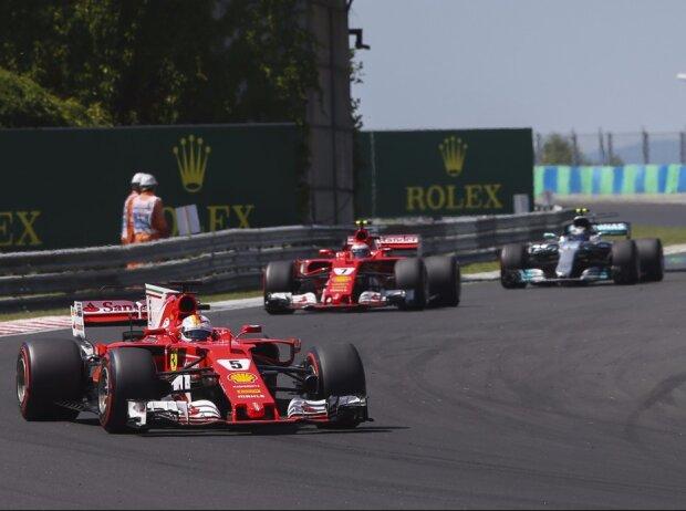 Sebastian Vettel, Kimi Räikkönen, Valtteri Bottas