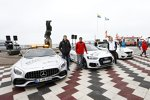 Paul di Resta (HWA-Mercedes 2), Loic Duval (Phoenix-Audi) und Maxime Martin (RBM-BMW)