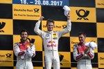 Mike Rockenfeller (Phoenix-Audi), Marco Wittmann (RMG-BMW) und Loic Duval (Phoenix-Audi)