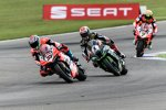 Marco Melandri (Ducati) vor Jonathan Rea (Kawasaki) und Chaz Davies (Ducati)